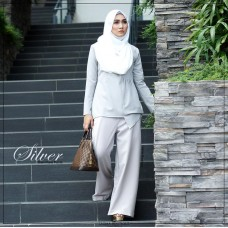 Dian Flare Pant (Silver)