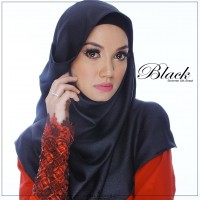 Shimmer Shawl Black