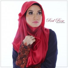 Shimmer Shawl Red Rose