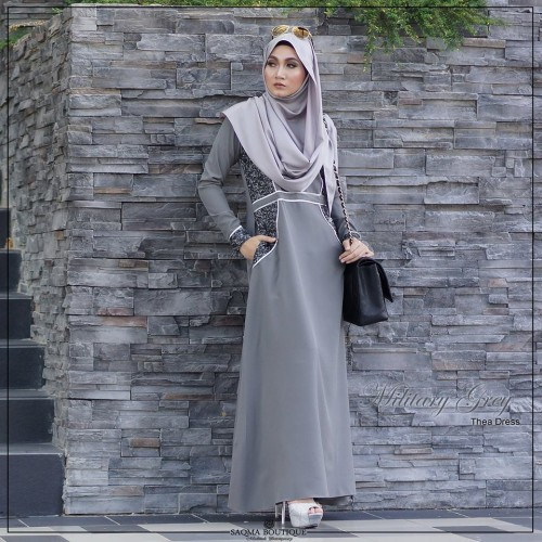 Thea Dress (Military Grey)